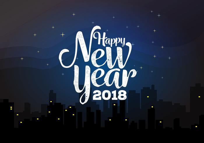 happy new year 2018 background vector illustration